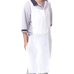 "Royal Disposable Poly Apron - 24"" x 42"""