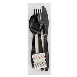Safety Zone Heavy Wt Fork/Knife/Teaspoon/Napkin/S&P Kit