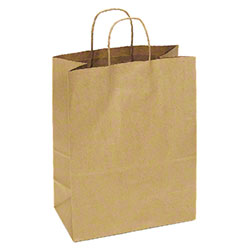 "TULSACK Brown Shopping Bag - 13"" x 7"" x 17"""