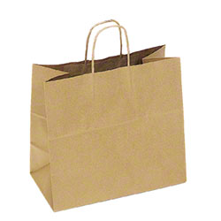 "TULSACK Natural Kraft Shopping Bag - 13"" x 7"" x 13"""