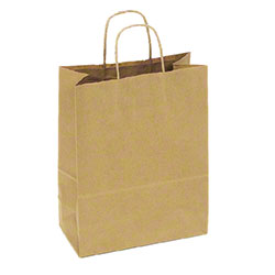 "TULSACK Kraft Shopping Bag - 10"" x 7"" x 12"""