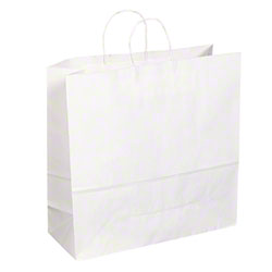 "TULSACK White Shopping Bag - 18"" x 7"" x 18"""