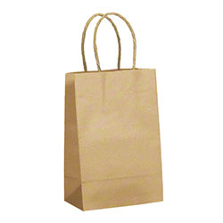 "TULSACK Natural Kraft Shopping Bag - 5.5"" x 3.25"" x 8.4"""