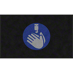 "M + A Matting ColorStar® ""Use Hand Sanitizer"" Social Distancing Mat - 3' x 5'"