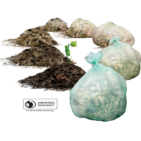 "Compostable Bag - 26"" x 36"""