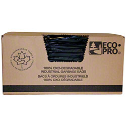 EcoPro® Low Density Garbage Bag - 26 x 36, Strong, Black