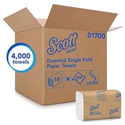 """Scott® Essential Single-Fold Towels - 9.3"""" x 10.5"""""""