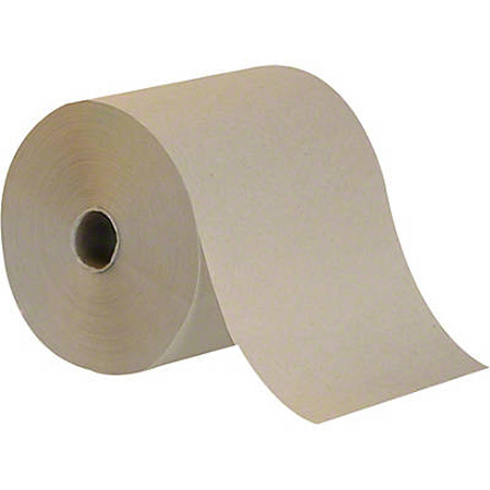 "Premium Brown Natural Hardwound Roll Towel - 8"" x 800'"