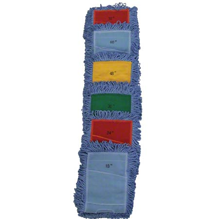 "Microfiber & More Dust Mop - 60"", Blue Pocket Banding"