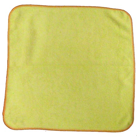 "Microfiber & More 16"" x 16"" 300gsm Microfiber Cloth - Yellow"