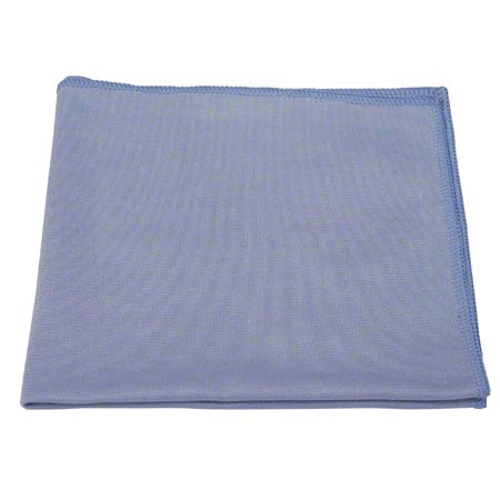 "Microfiber & More 16"" x 16"" Blue Glass Cloth"