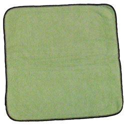 "Microfiber & More 16"" x 16"" 300gsm Microfiber Cloth - Green"