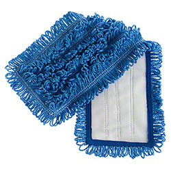 "Microfiber & More 17"" Velcro Back Mop - Blue"