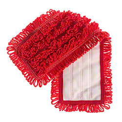 "Microfiber & More 17"" Velcro Back Mop - Red"