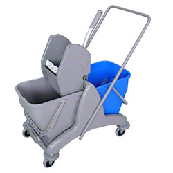 Microfiber & More Double Bucket System on Trolley