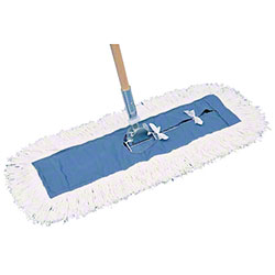 PRO-LINK® Standard Launderable Dust Mop-5 x 18, Blue/White
