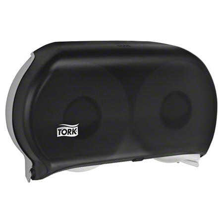 "Tork® 9"" Jumbo Twin Roll Bath Tissue Dispenser - Smoke"