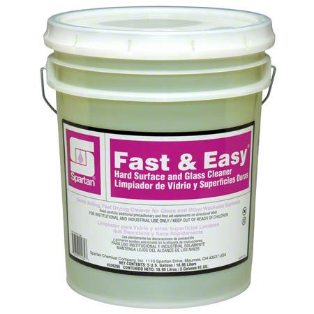 Spartan Fast & Easy® Hard Surface & Glass Cleaner- 5 Gal.