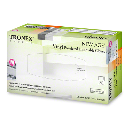 Tronex 8264 Natural Vinyl New Age® Powdered Glove - Medium