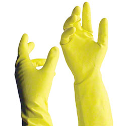 "Tronex 1908 12"" Multipurpose Flock-Lined Latex Glove - Small"