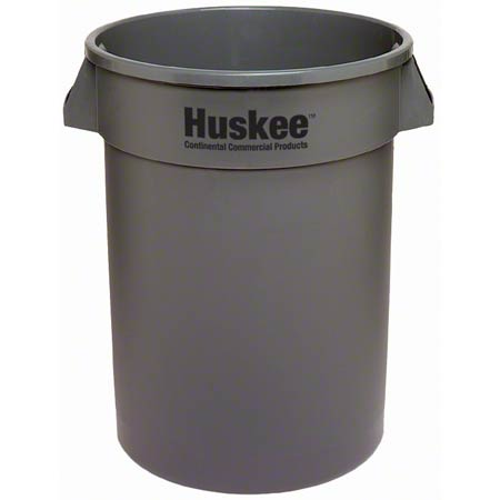 Continental Huskee™ Round Huskee w/o lid - 10 Gal., Grey