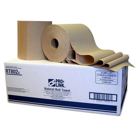 "PRO-LINK® Roll Paper Towel - 7.9"" x 800', Natural"