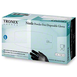 Tronex 9388 Nitrile Powder-Free Black Exam Glove - Large