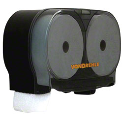 Von Drehle MiniTwin Porta-Roll Tissue Dispenser - Black