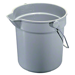 Impact® 10 Quart Deluxe Heavy-Duty Bucket - Gray