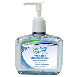 Health Guard® 62% Alcohol Hand Sanitizer Gel - 8 oz. Pump Bottle