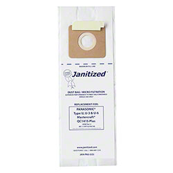 Janitized® 2 Ply Paper/Meltblown Micro Filter Bag