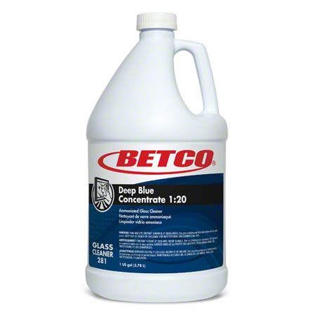Betco® Deep Blue Concentrate 1:20 Glass Cleaner - Gal.