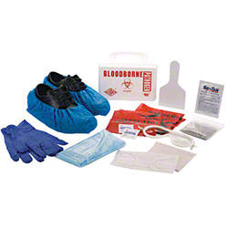 Tolco® Bloodborne Pathogen Clean Up Kit in Plastic Case