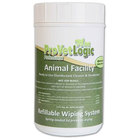 ProVet Animal Facility Refillable Wiping Canister w/Towel