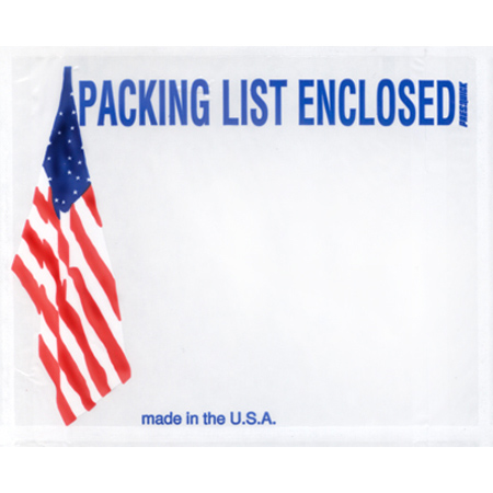 "American Flag Packing List Envelope - 4 1/2"" x 5 1/2"""