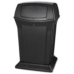 Rubbermaid® Ranger® Container - 45 Gal., w/Doors,Black