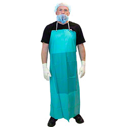 "Safety Zone Green PVC Apron - 36"" x 50"""