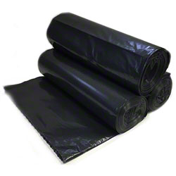 Allstate Black HD Coreless Roll Liner - 24 x 33, 6 mic