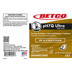 Betco® pH7Q Ultra Disinfectant Label Only