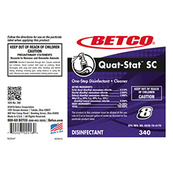 Betco® Quat-Stat™ SC Disinfectant Label Only
