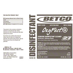 Betco® OxyFect™ G Peroxide Disinfectant Label Only
