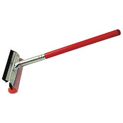 "Ettore® Auto Squeegee Scrubber Wood Handle - 8"" Head"