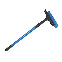 "Ettore® Auto Squeegee Scrubber Metal Handle - 8"" Head"