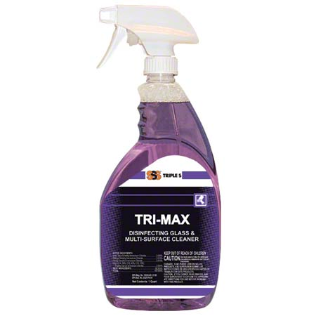 SSS® Tri-Max Disinfecting Glass & Multi-Surface Cleaner - Qt.