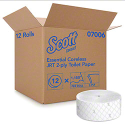 "Scott® Essential Coreless Jumbo Roll Bathroom Tissue - 3.78"" x 1150'"