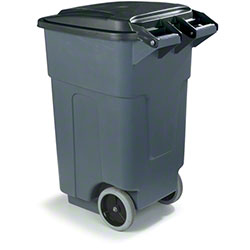 Carlisle Roll-Away Waste Container - 50 Gal., Gray