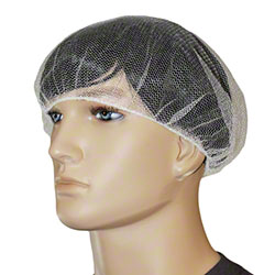 "Impact® Honeycomb Hair Net - 24"", White"