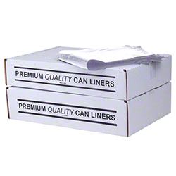 Eco Heavy Duty Trash Liner/Drum Liner -37 x 50,1.5 mil,Clear