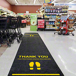 Pig® Social Distance Floor Sign w/Adhesive Backing - 24' x 36""