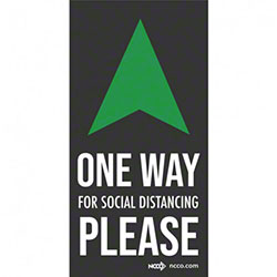 "NCCO Safe Distance ""Social Distancing Arrow One Way"" Floor Mat - 6' x 12"""